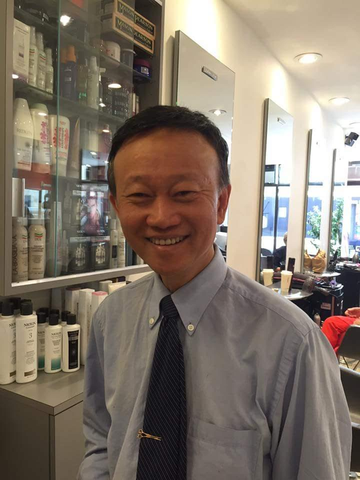 Mr. Kim is a master of hair cuts, the owner of MK Hair Salon